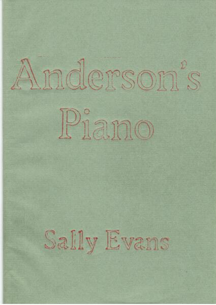 The simplest of pale green covers, with the title in huge lower case outlined font, centred in pale red in the top half. The author's name, same font but smaller is in the bottom 25% of the cover. No images.