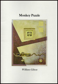 The jacket is white with an oblong full colour painting as its central image. Above and below are the title and author's name respectively, in black lower case. The painting is an abstract, in yellows and browns. Hard to describe but involves brown half-triangles right down the left side, a brown band traversing from left to right at an upwards angle about the middle. A little square above that with another image inside it. A little clock or pocket patch on a chain to the bottom right, and some kind of contraption I can't make out.