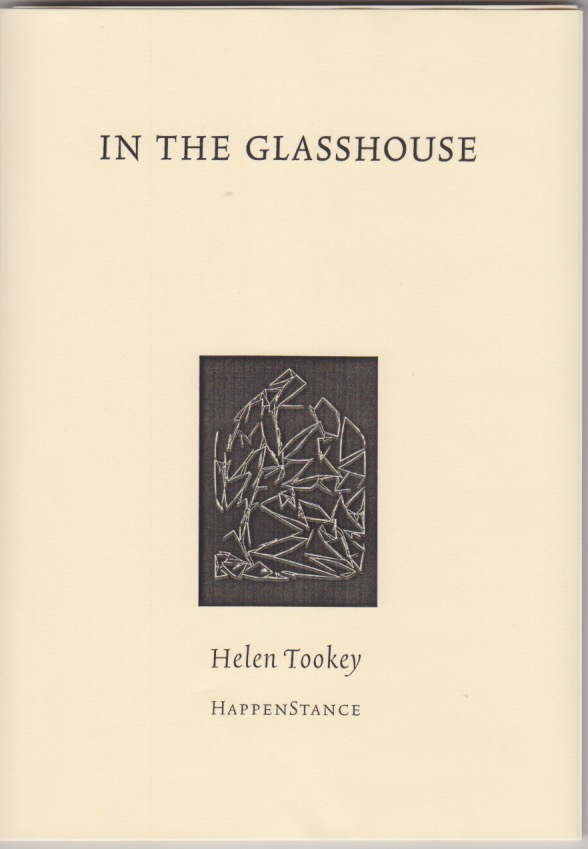 An austere cover design. The book title in neat caps at the top. In the bottom half of the page there is a black rectangle, placed vertically, and inside this white lines suggest a design, maybe a house, but the lines conflict and cross each other. Below this the author's name, lower case.